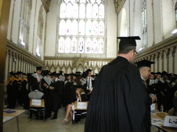 ケント大学が卒業式やってた!