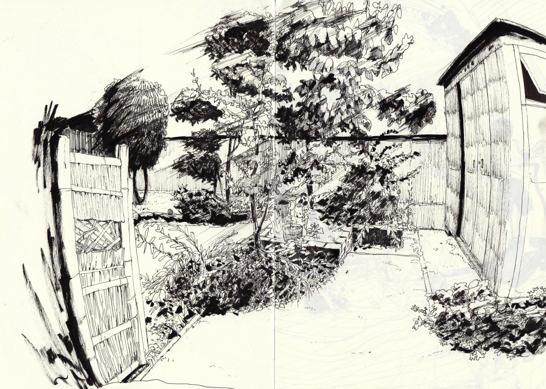 庭のスケッチ