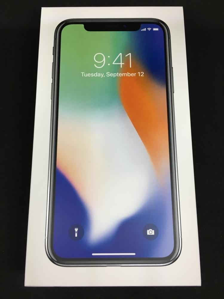 iPhoneXの箱