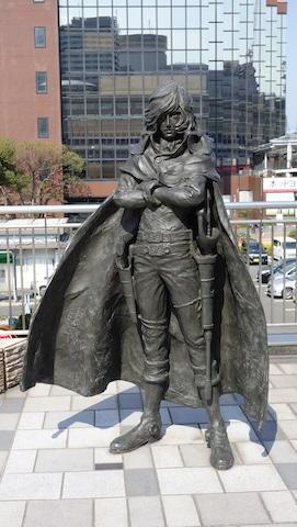 キャプテンハーロック 銅像