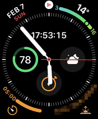 Apple Watchの文字盤「インフォグラフ: