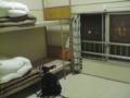 稚内のユースホステルの部屋,相部屋なんだけど相人がいなくてこれを