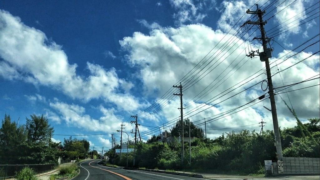 警察車輌、暴走族に激突「2017/09/11、沖縄の天気」