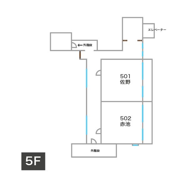 キウンクエ蔵前5階見取り図