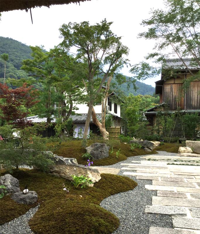 パンとエスプレッソと嵐山庭園の庭園