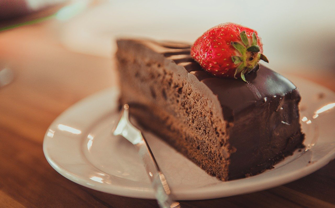 おいしそうなチョコレートケーキ