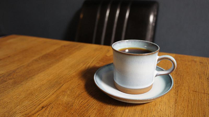 ヒロコーヒーの豆で淹れたコーヒー