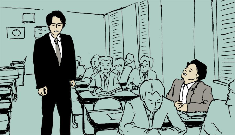 パッタイについて説明する神谷刑事と水城刑事のシーン