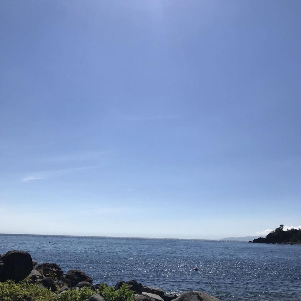 富戸 脇の浜の海