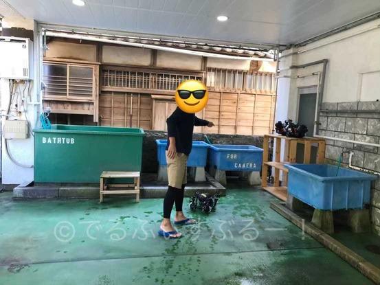 器材洗い場、カメラ