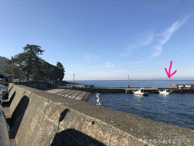 駐車場から見た桟橋