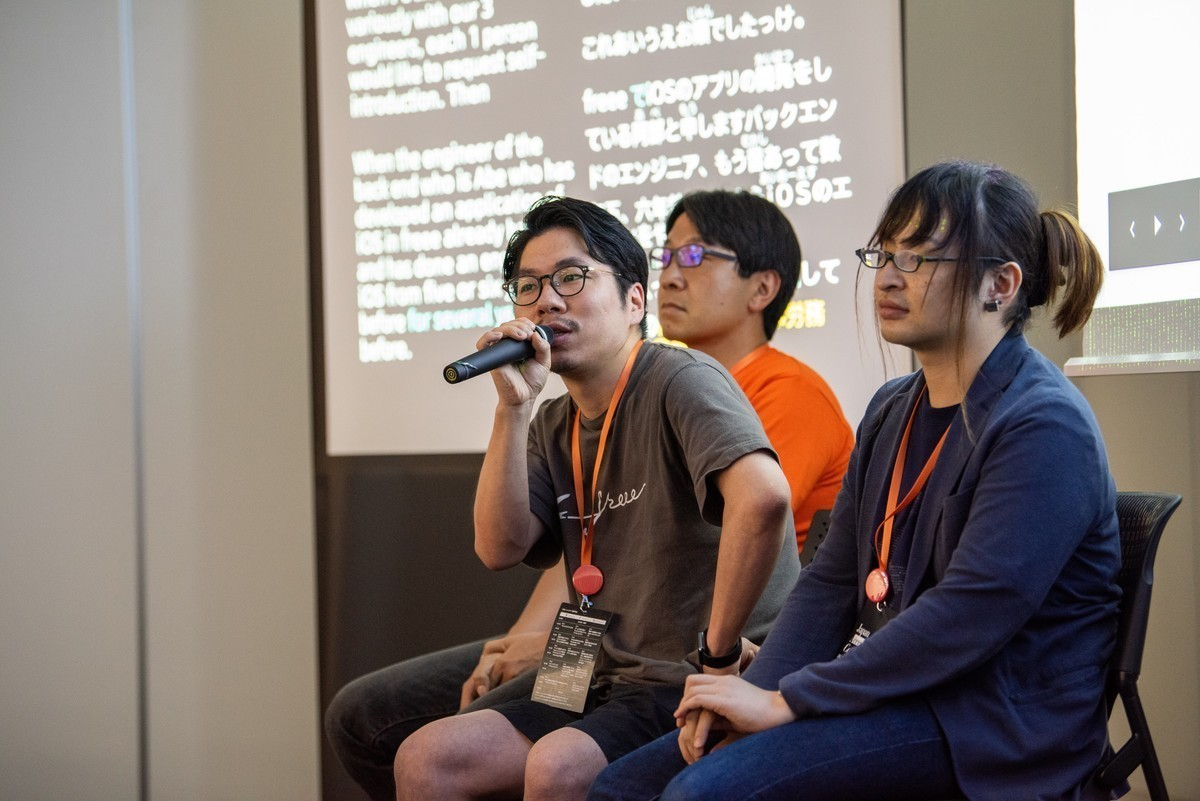 Japan Accessibility Conference vol.2にymrlさん、melonさん、abeが登壇しているときの様子