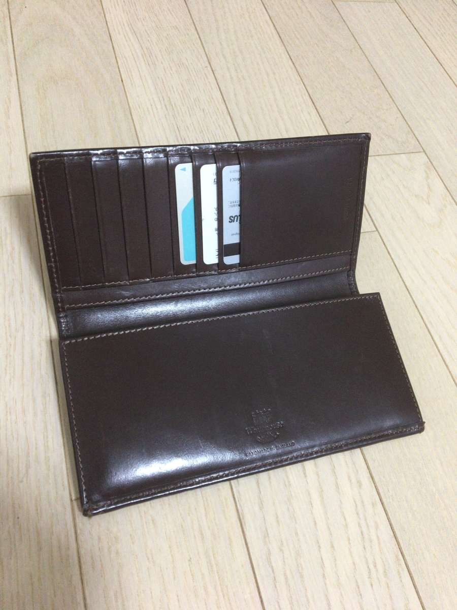 new concept d8d11 88258 ホワイトハウスコックスの長財布をレビュー【ブライドルレザー ...