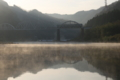 京都新聞写真コンテスト 朝もやの中を走る