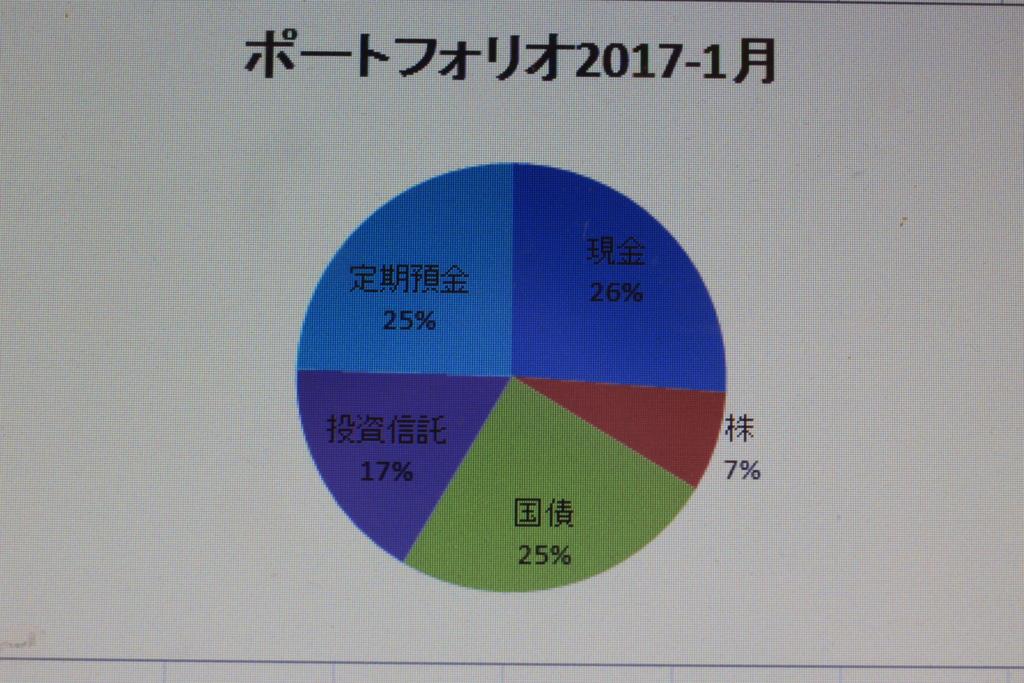 所持している資産の割合を円グラフで表した