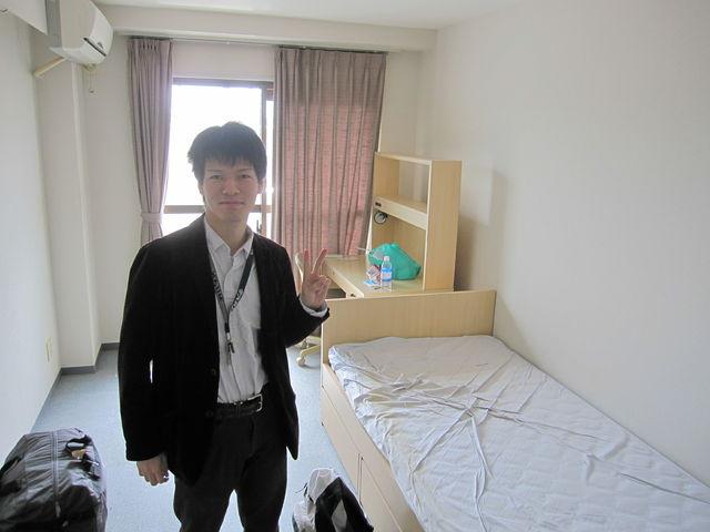 大学生の4年間、住んでいた寮を出る時の写真