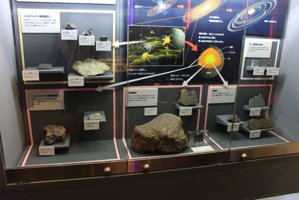 隕石の模型