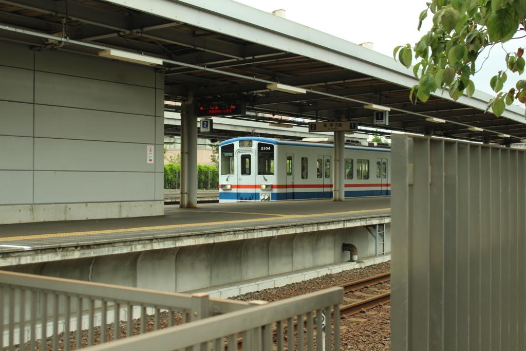 守谷駅に止まっている関東鉄道常総線