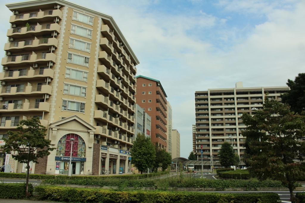 研究学園駅前の住宅街