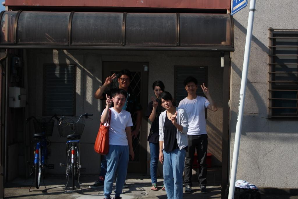 リバ邸茨城とたむろ荘メンバーの記念写真