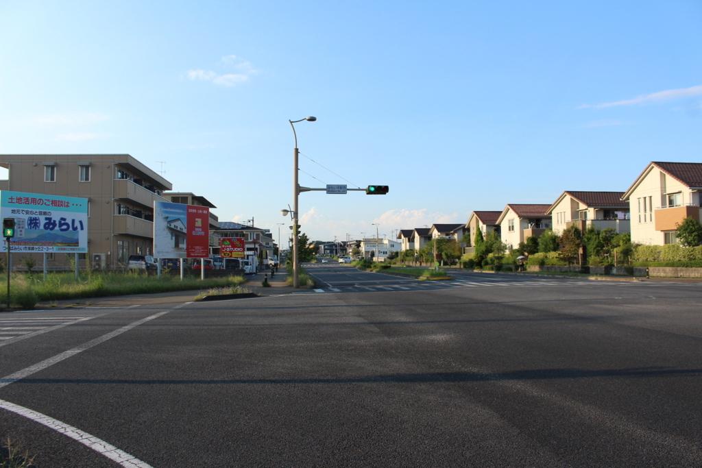 ベッドタウンっぽい雰囲気のみらい平駅前の住宅街