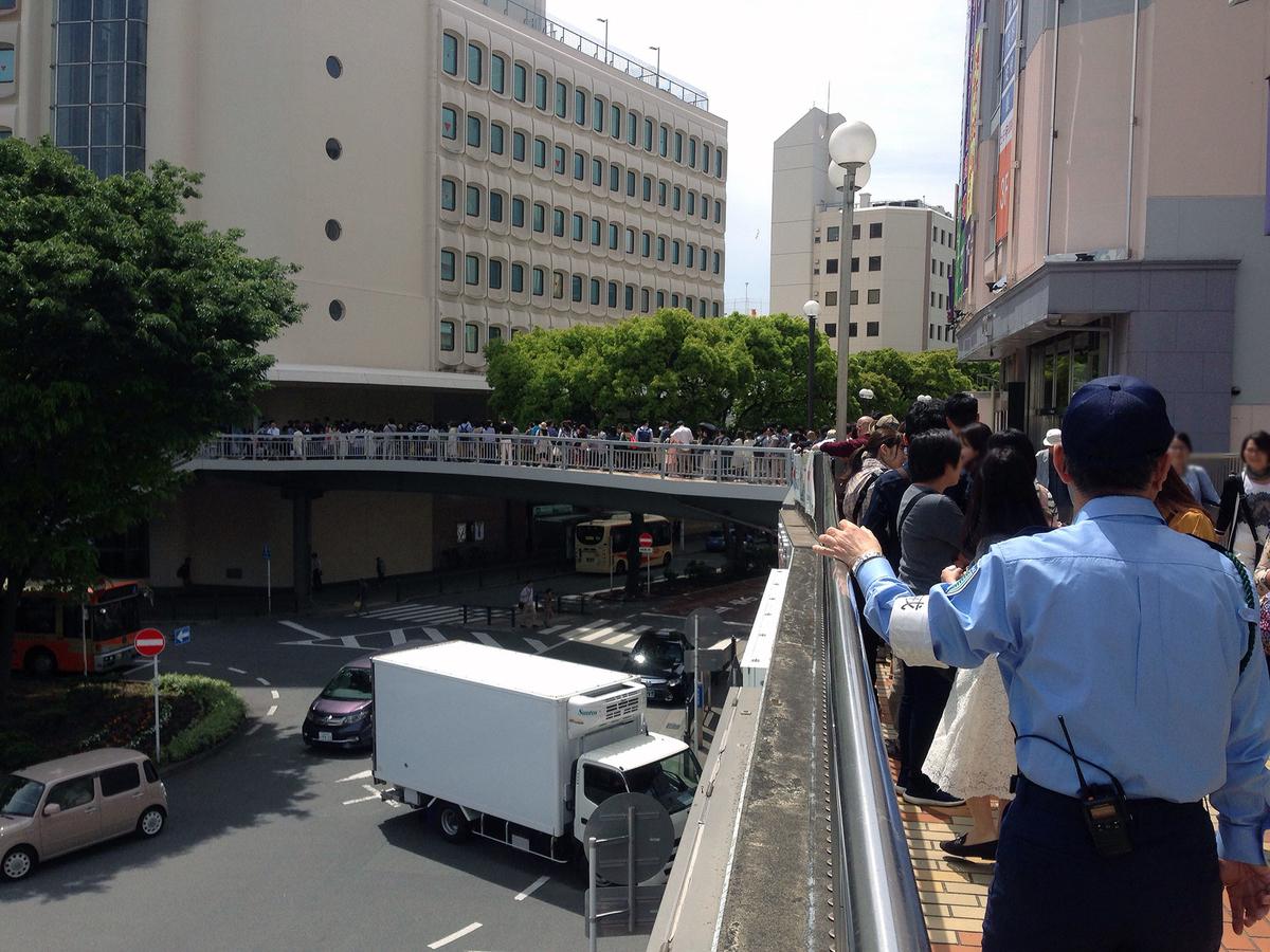 連休江ノ電藤沢駅の混雑