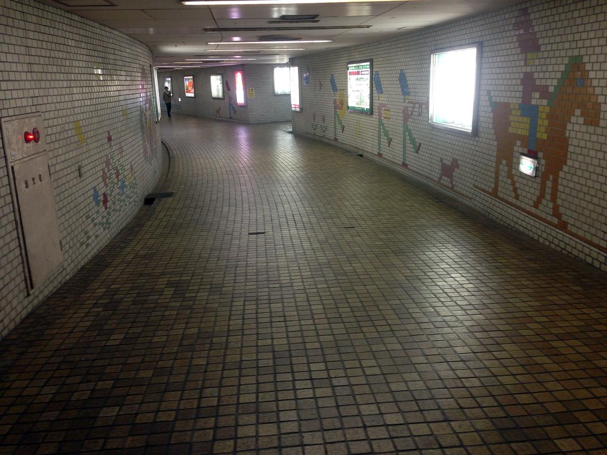 藤沢駅周辺の地下通路