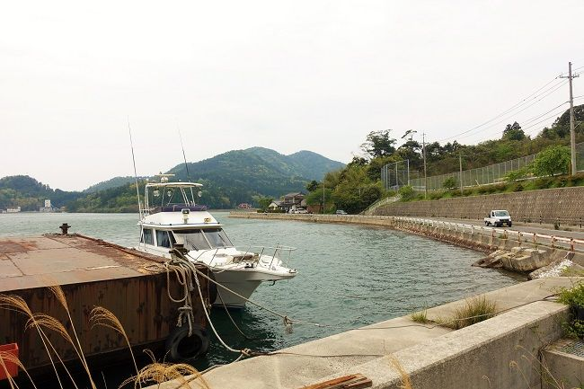 隠岐島後上陸直後にとった写真