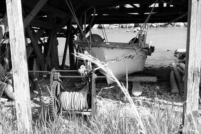 舟小屋の中の様子