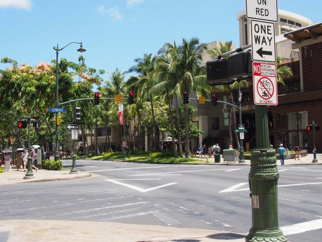 ハワイの交差点