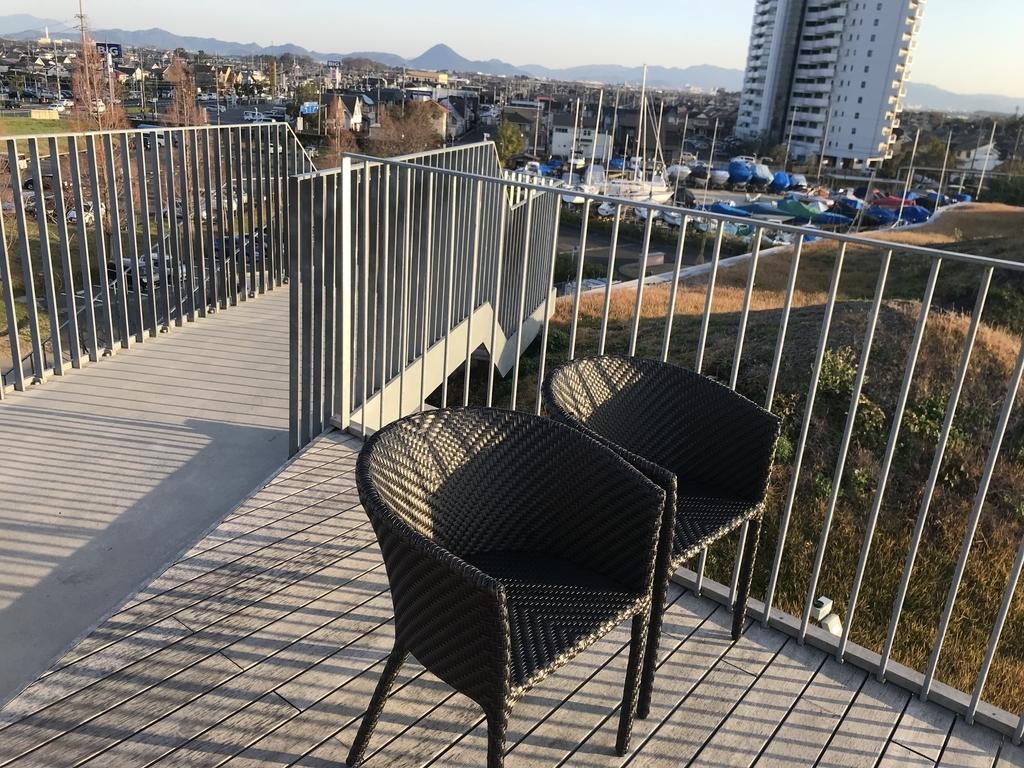 セトレアリーナの屋上の椅子