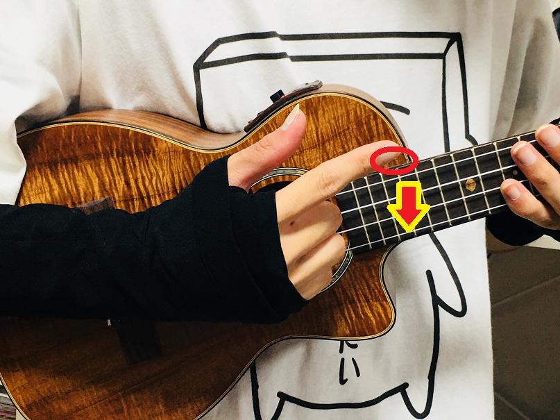 ウクレレ コード 右手 ストローク アップストローク ダウンストローク 奏法