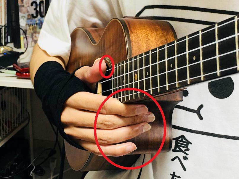 ウクレレ 姿勢 右手 左手 奏法