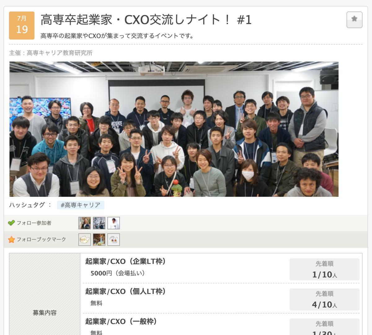 高専卒起業家・CXO交流しナイト