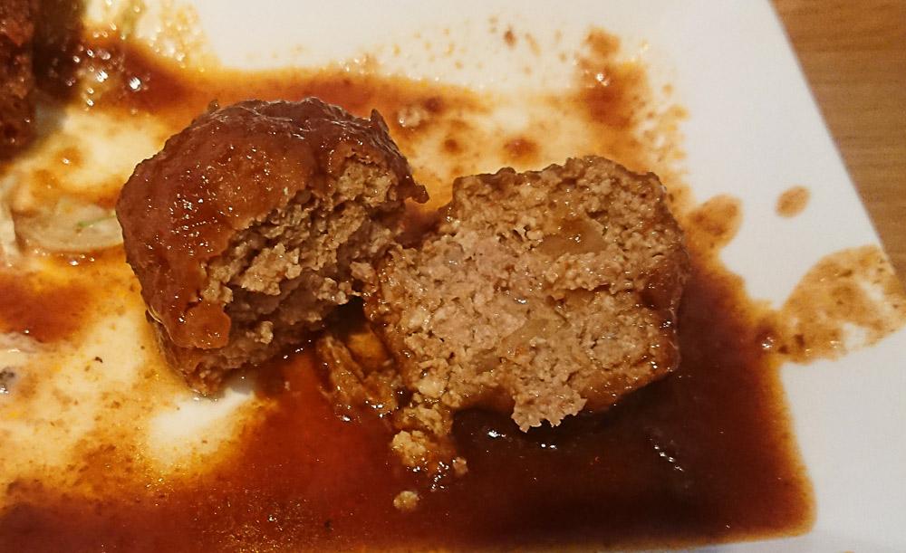 豆腐ハンバーグの中身