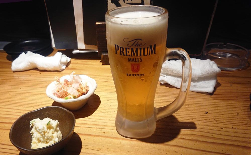 まずは「生ビールで!」