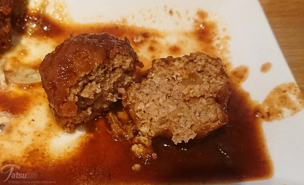「豆腐ハンバーグ」の中身は玉ねぎのみ