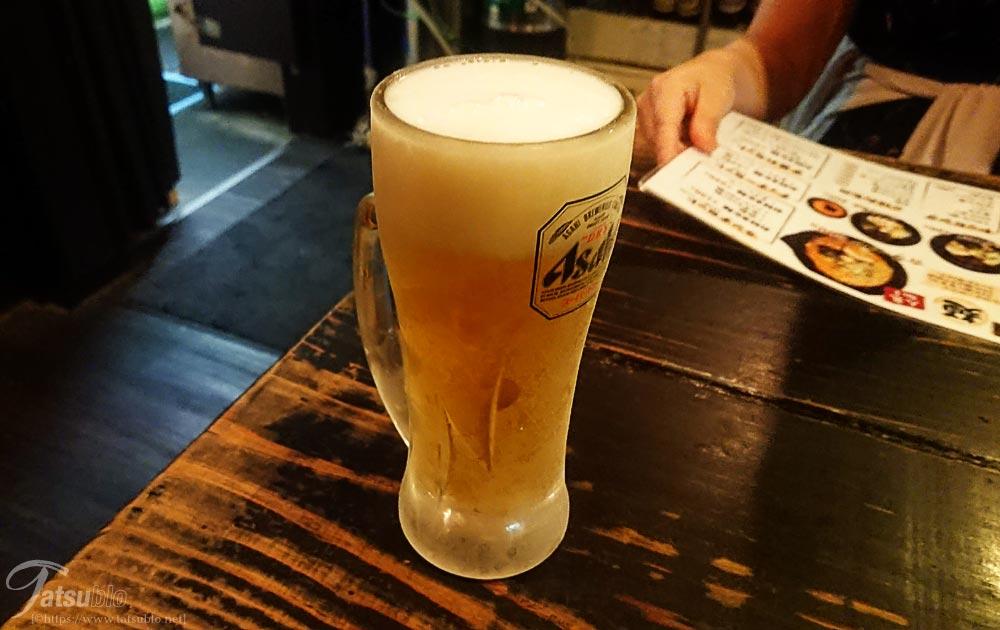 まずは、ビール