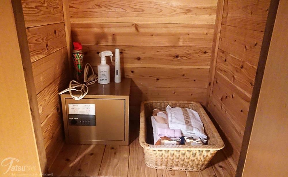 タオルや浴衣に消臭スプレーなども