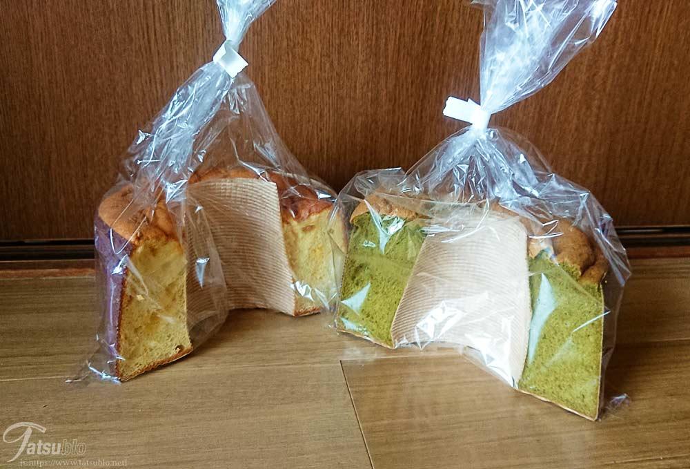 購入したシフォンケーキ