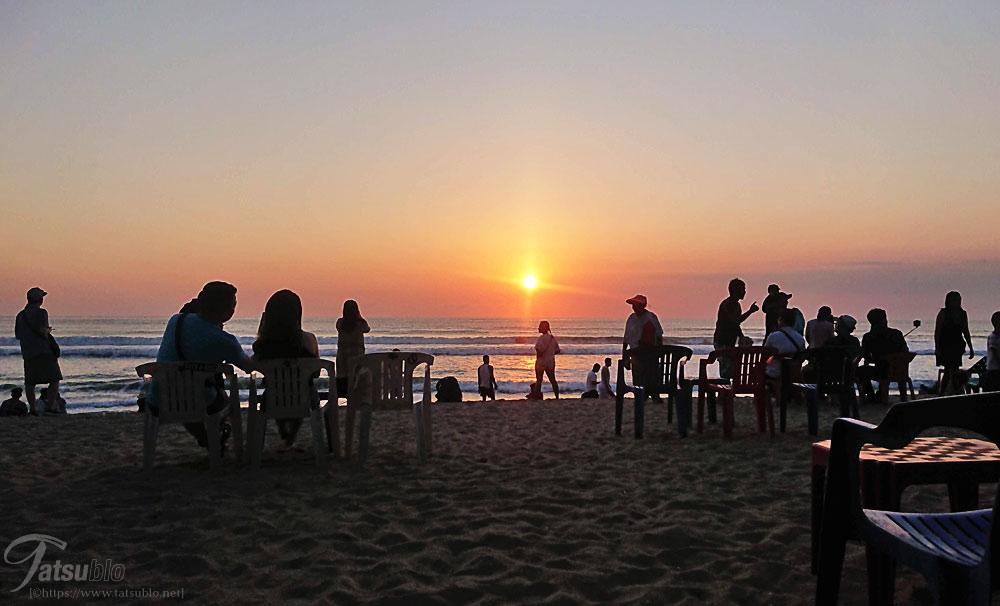 ビーチの夕焼け