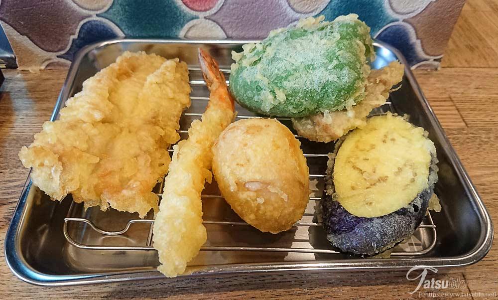 注文したすべての天ぷら