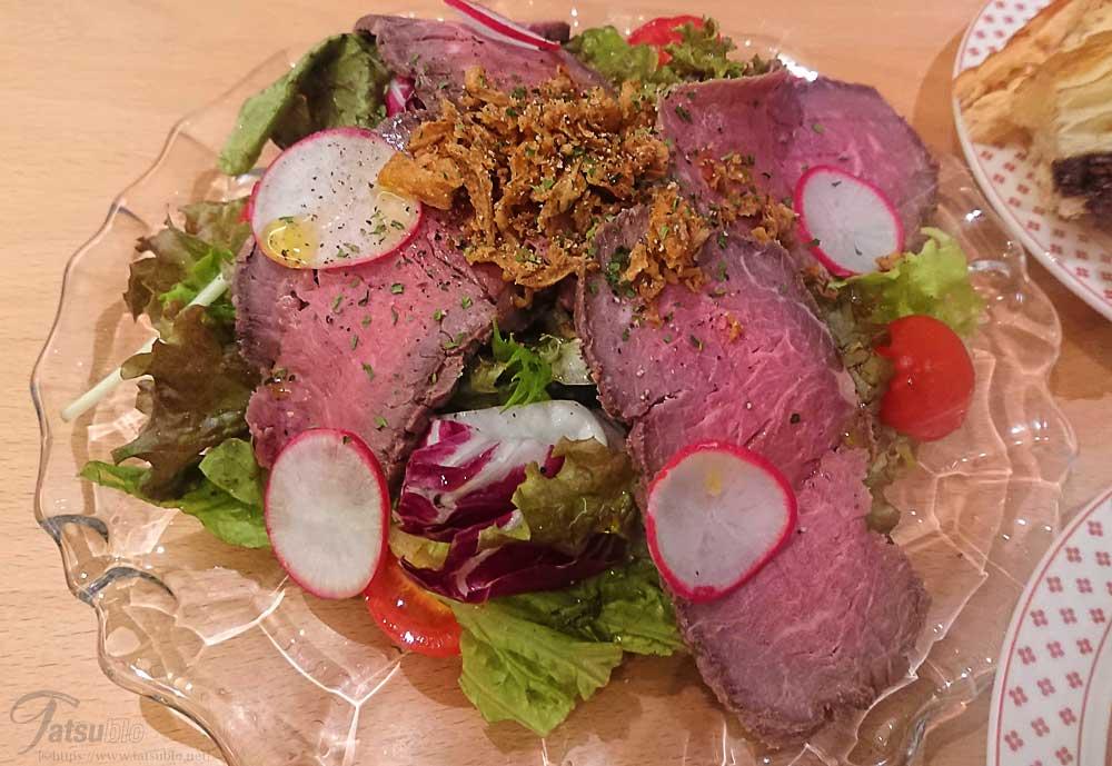 「北海道産牛リブロースのローストビーフサラダ」