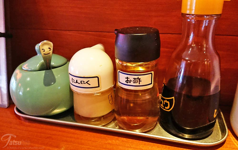 ニンニクやお酢の調味料