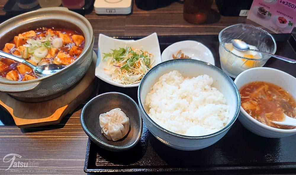 こちらは奥さんが頂いた「麻婆豆腐定食」