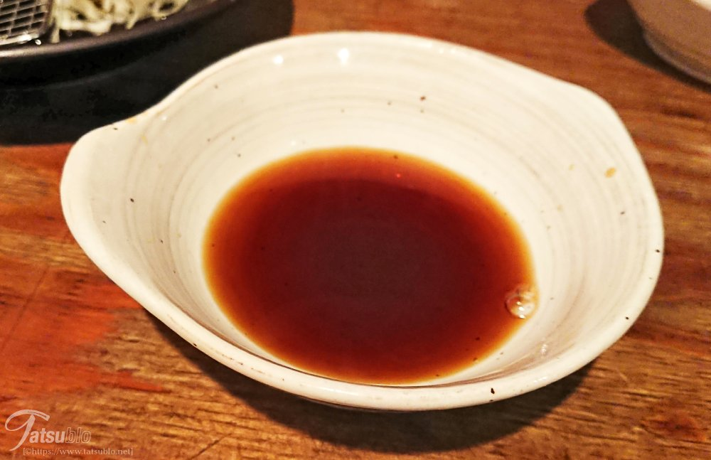 食べる際はこちらの魔法瓶の中にあるタレを器に注いでいただきます。