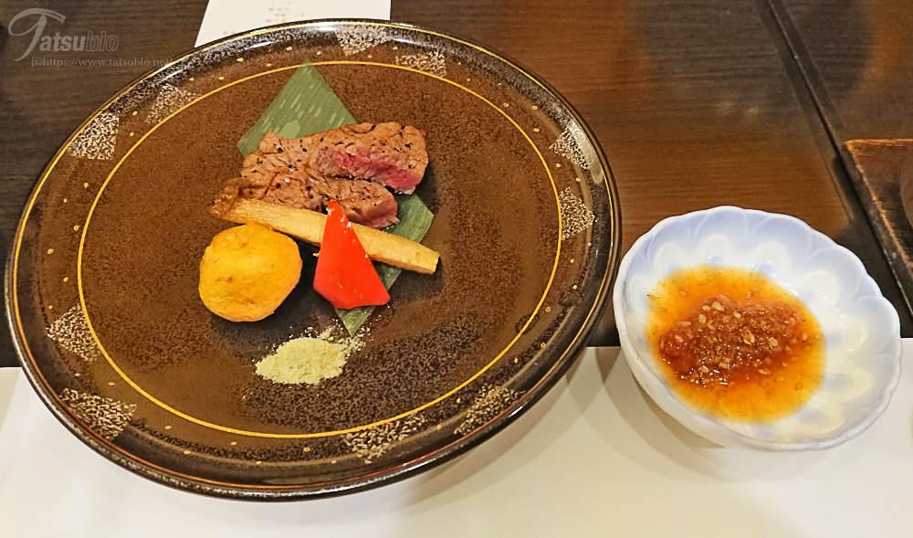黒毛和牛フィレ肉のステーキ