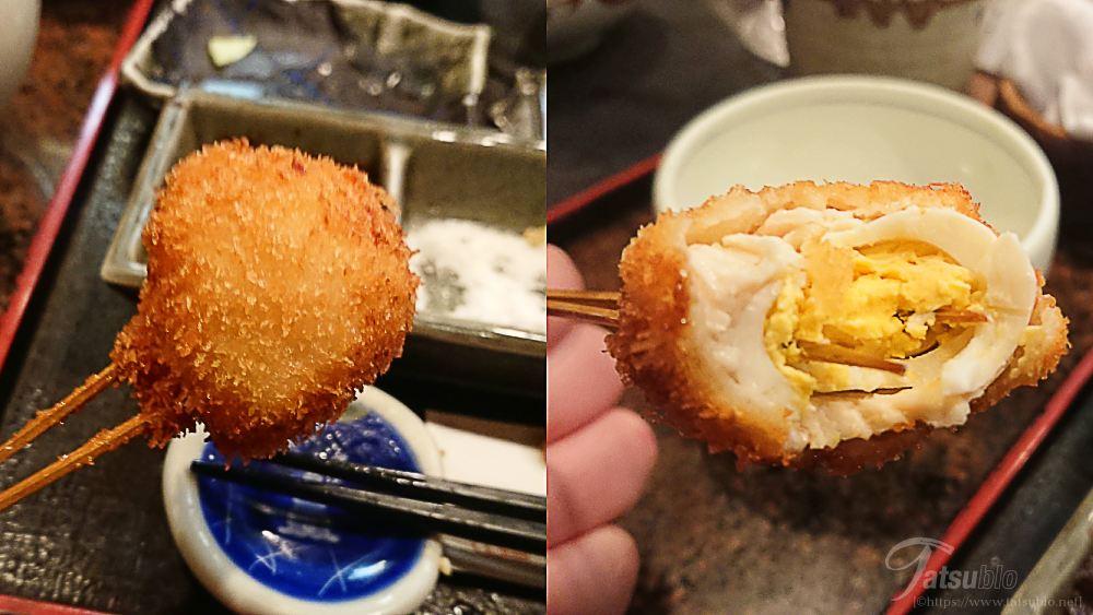 「うずらの卵の鶏むね巻き」