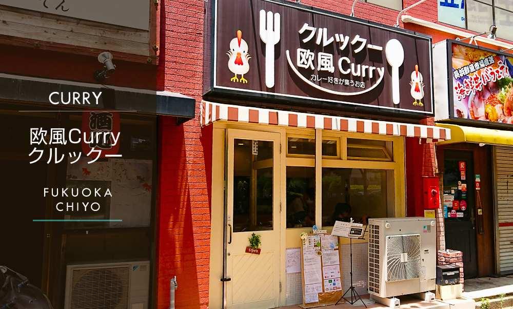 欧風カレー【クルックー】(博多区千代)カレーを食べ歩いた人柄の良い店主が作る人気店で満足ランチ