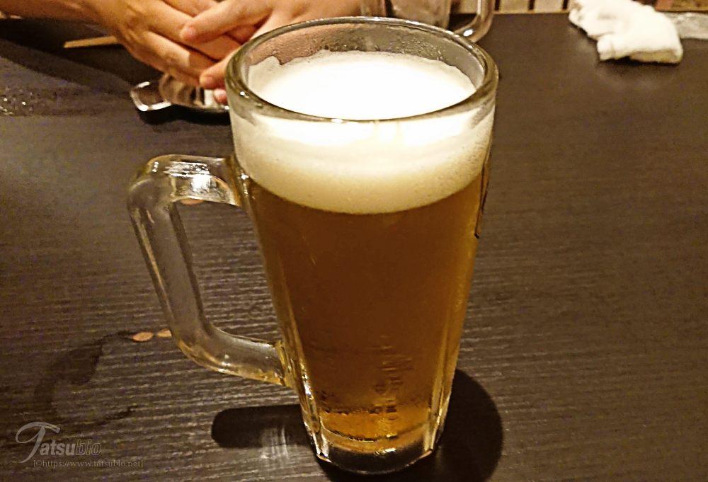 とりあえず、ビール。
